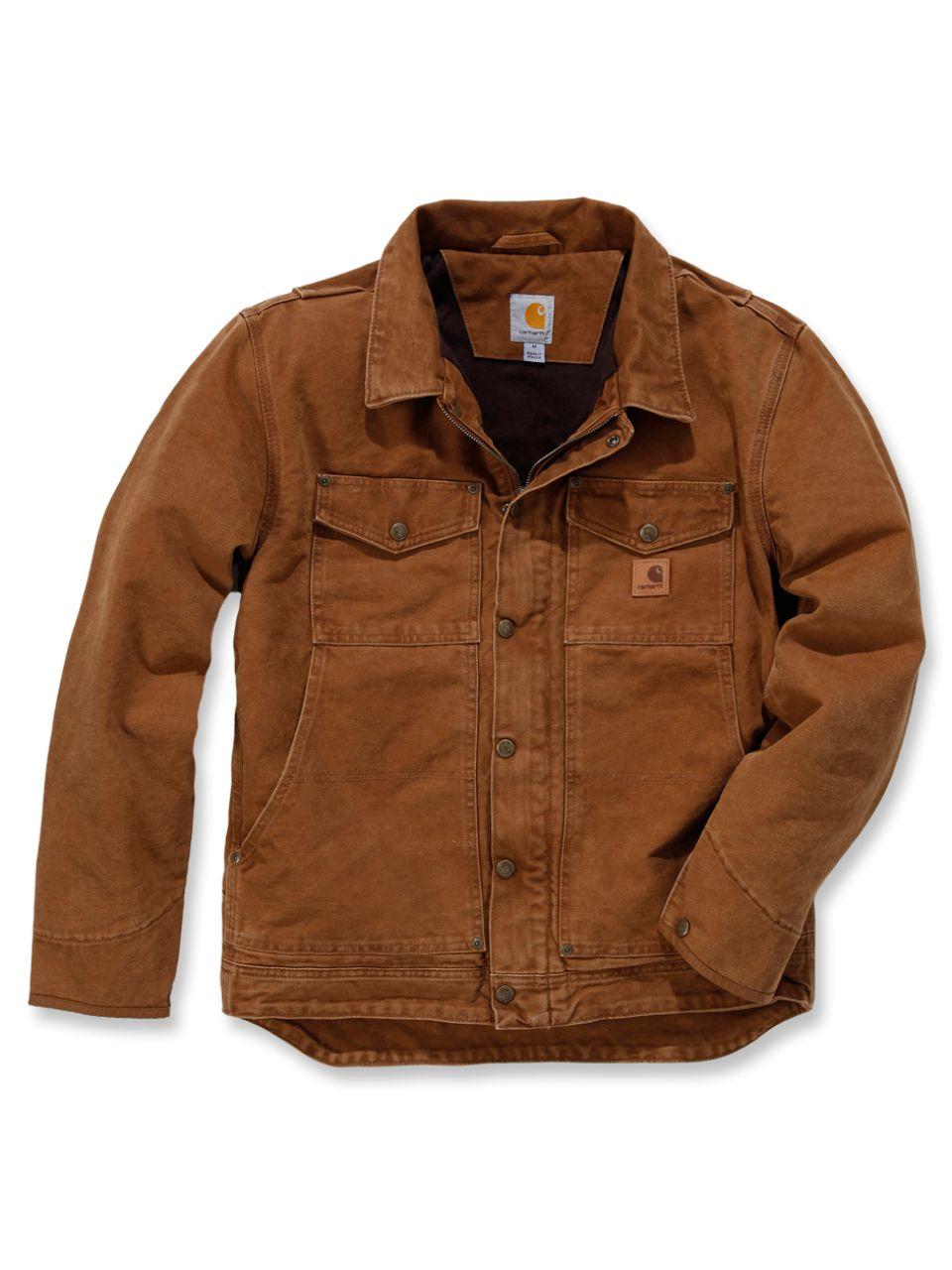 Carhartt Sandstone Berwick Jacket in Braun | Jacken, Rugged