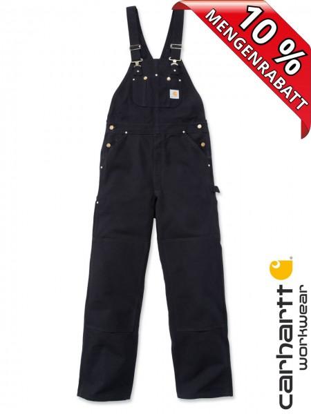 Carhartt Latzhose R01 Duck Bib Overall Black Schwarz Workwear