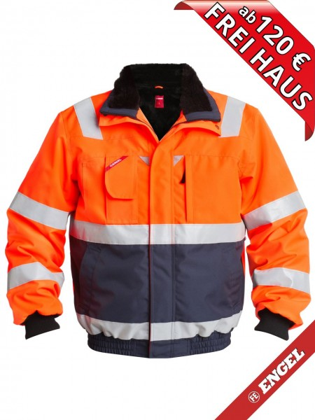 Warnschutz Winter Pilotjacke Jacke EN ISO FE ENGEL 1172-928 orange marine